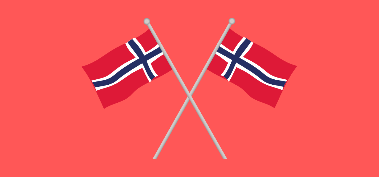 To norske flagg til konfirmasjon
